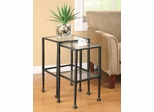 2 Piece Glass and Metal Nesting Tables - 901073