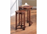 2-Piece Nesting Tables in Warm Dark Cherry - Coaster
