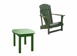 2-Piece Set - Adirondack Chair with Side Table in Hunter Green - K-51901-CT-0
