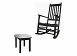 2-Piece Set - Porch Rocker Chair with Side Table in Black - K-51866-51902-0