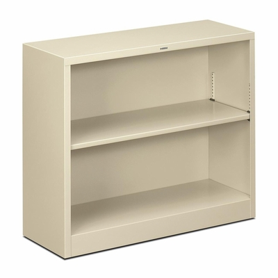 2 Shelf Metal Bookcase - Putty - HONS30ABCL