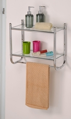 2-Tier Wall Mounting Rack in Chrome - FT-2670C
