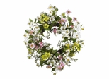 """20"""" Dogwood Wreath in Asst - Nearly Natural - 4688"""