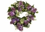 """20"""" Hanel Lilac Wreath - Nearly Natural - 4786"""
