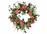 """20"""" Rose Wreath - Nearly Natural - 4802"""