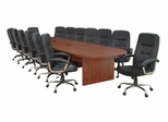 """216"""" Legacy Conference Table with 14 Carrera 1040 Swivel Chairs - ROF-LCTRT216521040BK"""