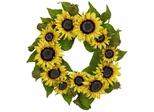 """22"""" Sunflower Wreath - Nearly Natural - 4787"""