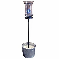 """22"""" Table Stake with Champagne Torch - Pangaea Home and Garden Furniture - DS-C4458-22-ST1"""