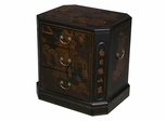 """24"""" Antique Style 3-Drawer End Table - Oriental Poem - frc5004"""