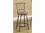 "24"" Bar Stool (Set of 2) in Black / Brown Microfiber - Coaster - 122019-SET"