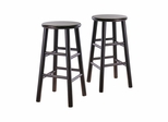 "24"" Bevel Seat Stool - Set of 2 - Winsome Trading - 92784"
