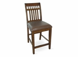 "24"" Counter Height Slat Back Stool in Antique Cherry / Mocha - D351-55"