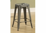 """24"""" Counter Height Stool in Antique Silver  - Set of 2 - 103059CL"""