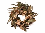 """24"""" Feather and Berry Wreath - Nearly Natural - 4681"""
