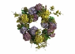 """24"""" Hydrangea Wreath in Mixed - Nearly Natural - 4666"""