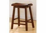 24 Inch Bar Stool (Set of 2) in Dark Walnut - Coaster