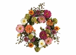 """24"""" Peony Wreath in Mixed - Nearly Natural - 4664"""