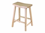 "24"" Saddle Seat Stool - Winsome Trading - 84084"