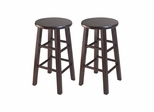 "24"" Square Leg Counter Stool - Set of 2 - Winsome Trading - 94264"