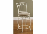 """24"""" White Metal Barstool with Upholstered Seat - 122049"""