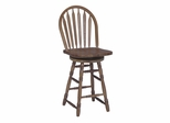 "24"" Windsor Arrowback Swivel Stool in Medium Oak - 48545"