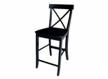 "24"" X-Back Counter Height Stool in Black - S46-6132"