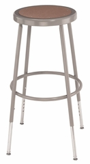 """25""""-33"""" Adjustable Lab Stool with Hardboard Seat - National Public Seating - 6224H"""