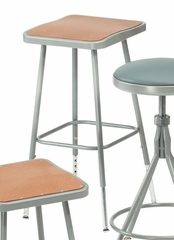 "25""-33"" Adjustable Lab Stool with Hardboard Seat - National Public Seating - 6324H"