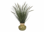 """27"""" Grass with Mini Cattails Silk Plant in Green - Nearly Natural - 4730"""