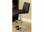 "29"" Adjustable Barstool in Black - Set of 2 - 120357"