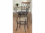 "29"" Decorative Metal Barstool with Wood Trim - 102575"