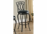 "29"" Elegant Metal Barstool with Black Seat - 122060"
