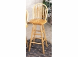 29 Inch Arrow Back Windsor Bar Stool with Swivel Seat in Natural - Coaster