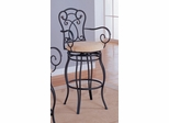 29 Inch Bar Stool in Black Metal / Dark Brown - Coaster
