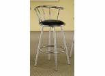 29 Inch Chrome Plated Bar Stool (Set of 2) in Chrome / Black Cushion - Coaster