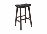 "29"" Mona Cushion Saddle Seat Stool in Black - Winsome Trading - 94069"