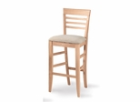 "29"" Roma Stool with Upholstered Seat - S-2013"