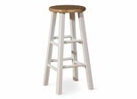"29"" Roundtop Stool in White / Natural - 1S02-430"