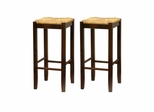 "29"" Rush Seat Stool - Winsome Trading - 94770"