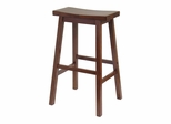 "29"" Saddle Seat Stool in Antique Walnut - Winsome Trading - 94089"