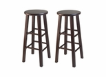 "29"" Square Leg Bar Stool - Set of 2 - Winsome Trading - 94260"