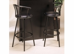 "29"" Swivel Bar Stool with Back (Set of 2) in Black - Coaster"
