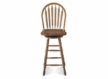 "29"" Windsor Arrowback Swivel Stool in Medium Oak - 48546"