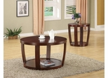 2PC Accent Table Set in Cherry - 701317