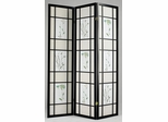 3-Panel Black Wood Screen - Iola - 02254