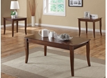 3 Piece Accent Table Set with Flared Legs - 701603