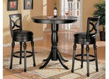 3-Piece Bar Table and Stool Set in Black - Coaster