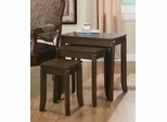 3 Piece Elegant Nesting Tables in Cappuccino - 901071