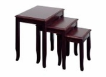 3-Piece Nesting Tables in Merlot - Office Star - ME19