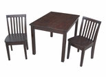 3-Piece Set - Table with 2 Mission Juvenile Chairs in Java - K15-2532-263-2